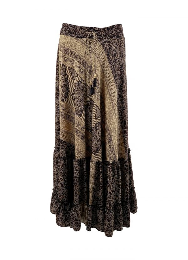 luna maxi skirt black epic