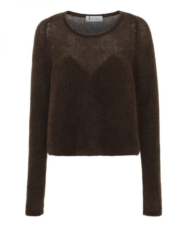 Delicia Knit Top brun