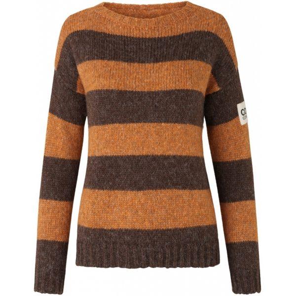 Brun orange strib comfy