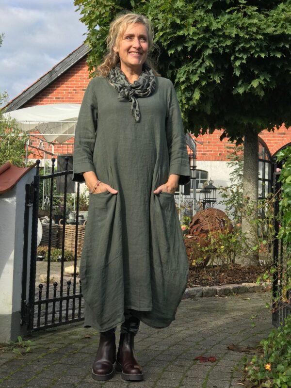 Janne k. Mille dress mørk grøn
