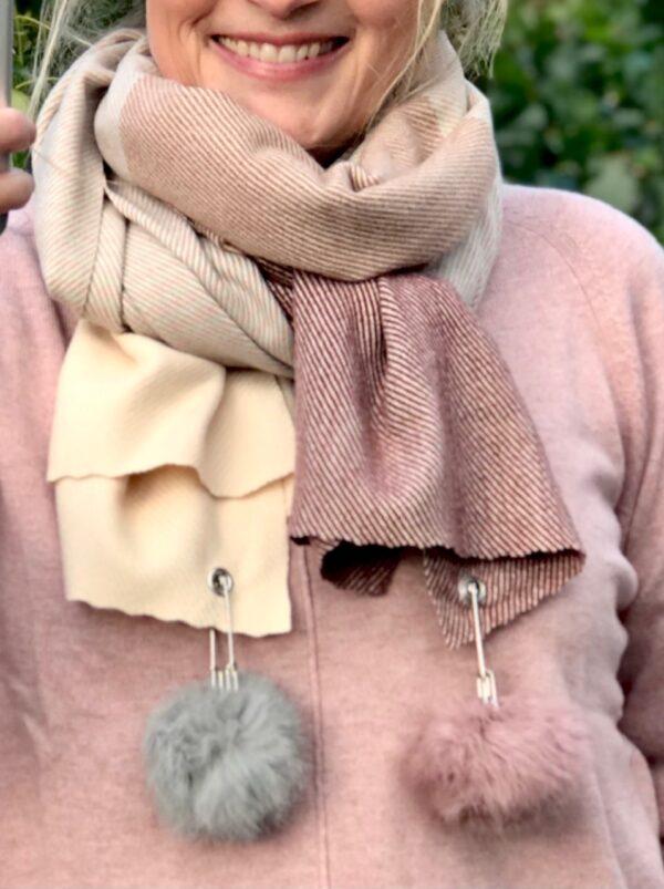 janne k rosa tørklæde