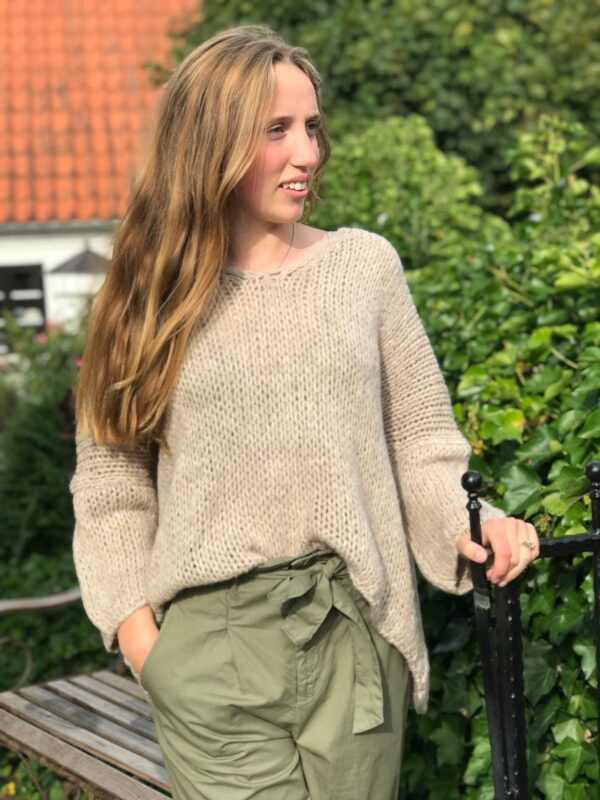 oversize lys taupe